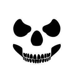 Skull profile design white background vector