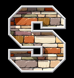 Stone letter s vector
