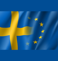 Symbol sweden is eu member vector