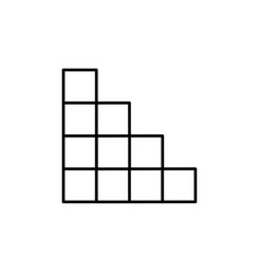 Tetris blocks icon vector