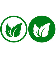 Two eco icons vector