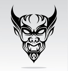 Devils head tattoo design vector