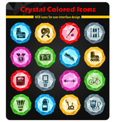sport simply icons vector image