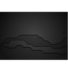 Black tech geometric concept background vector
