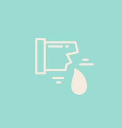isolated plumbing icon vector image