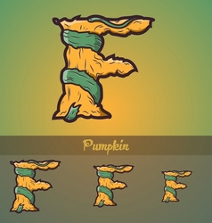 Halloween decorative alphabet - f letter vector
