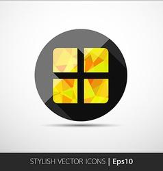 Geometrical present box icon vector image