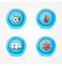 Set of medical icons on white background vector