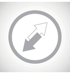 Grey opposite arrows sign icon vector