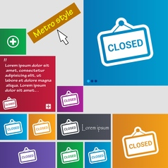 Close icon sign buttons modern interface website vector