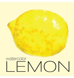 Watercolor painting lemon vector