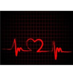 Heartline design vector image