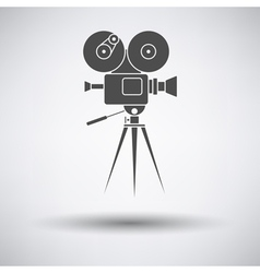 Retro cinema camera icon vector