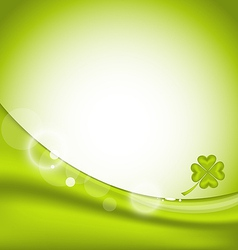 Abstract background with four-leaf clover for St vector image