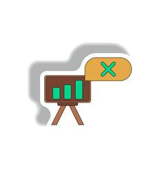 Bar graph business statistic vector