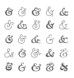 Big ampersand symbol collection vector