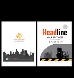Brochure template design 4 vector image