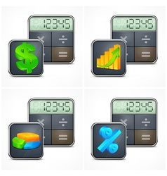 Calculators finance symbols vector image