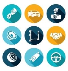 Car Repairs and Maintenance Icons Set vector image vector image