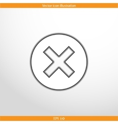 close web flat icon vector image vector image