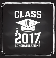 Congratulations graduates class of 2017 vector