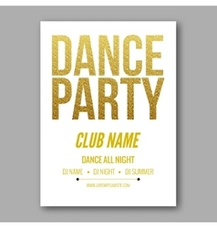 Dance party flyer golden style template vector