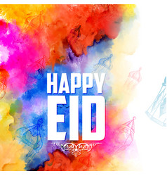 Eid mubarak happy eid greetings background for vector