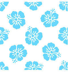 Floral seamless pattern with hibiscus flowers vector