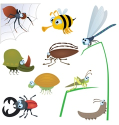 funny insects vector image vector image
