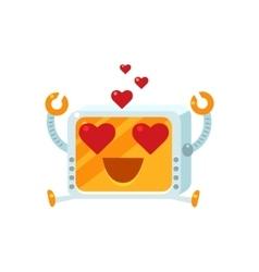 In love little robot character vector