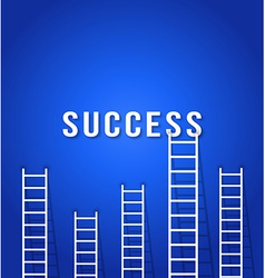 ladder to SUCCESS - concept business competition vector image