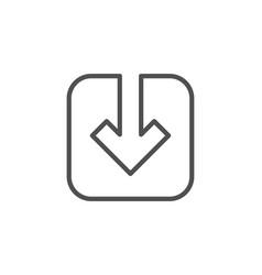 Load document line icon download arrowhead vector