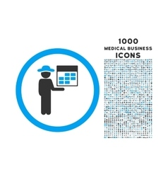 Man Calendar Rounded Icon with 1000 Bonus Icons vector image vector image