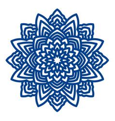 Mandala laser cutting for paper napkins vector