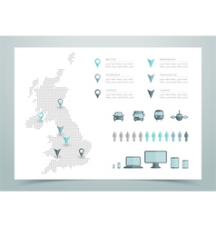 Map Of UK Dotted vector image vector image