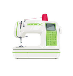 modern sewing machine with red vector image vector image
