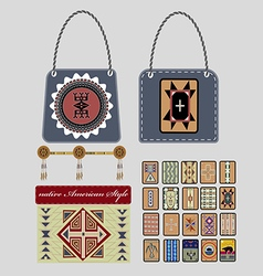 Native american style vector
