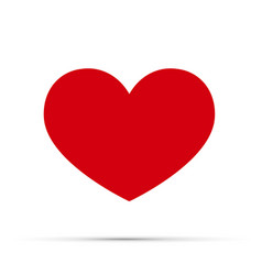 red heart icon love symbol a symbol of vector image vector image