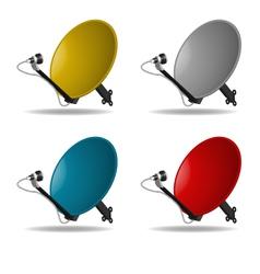 Satellite dish vector image vector image