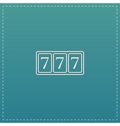 Simple icon 777 vector