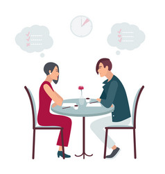 speed dating date at the cafe flat vector image vector image