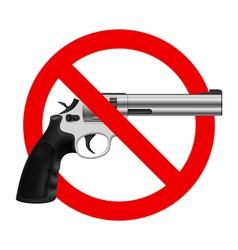 Symbol no gun vector