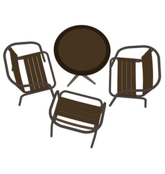 table restaurant cafe icon dinner chair romantic vector image vector image