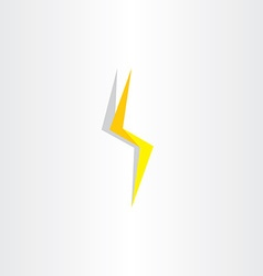 Thunder lighting bolt yellow flash icon vector