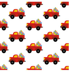 Truck woth presents pattern vector