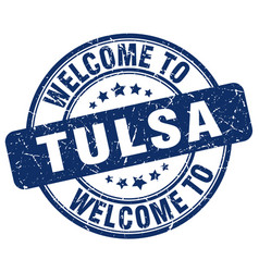 welcome to tulsa vector image vector image
