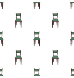 Wooden chair icon in cartoon style isolated on vector