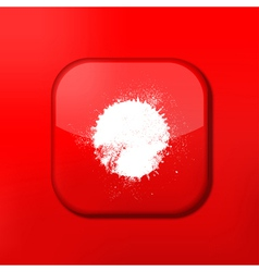 Glossy red misc icons vector
