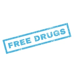 Free drugs rubber stamp vector