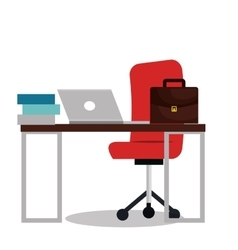 Work place office icon vector